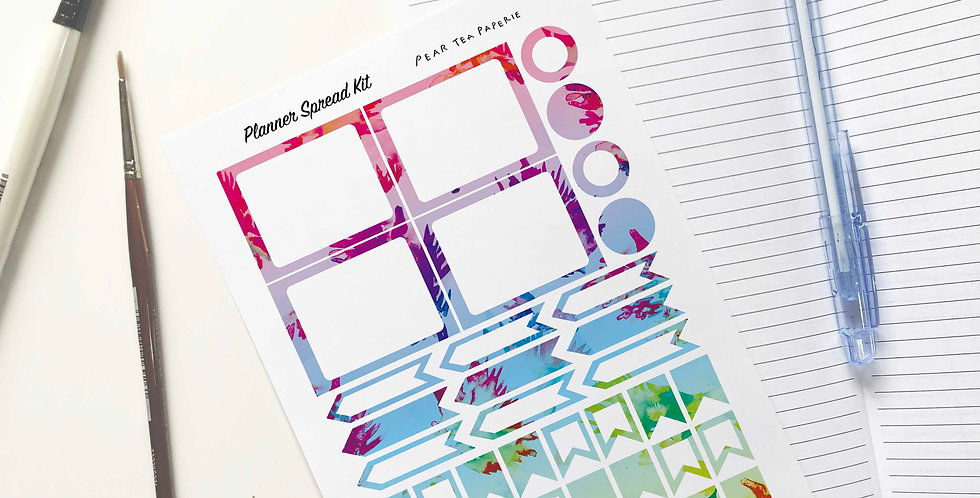 Abstract Planner Spread SET - E (2 Choice)