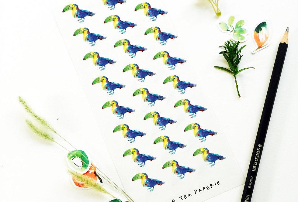 Toucan Bird Stickers