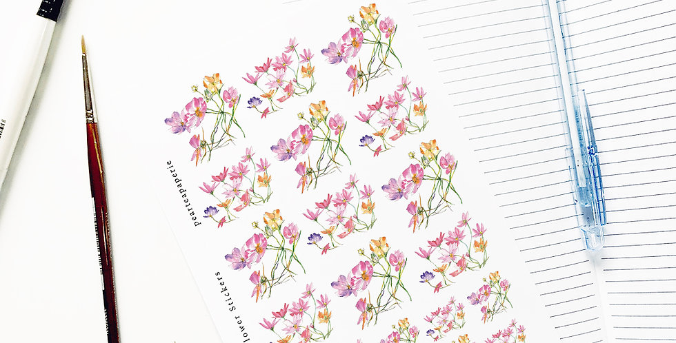 Cosmos flower Stickers