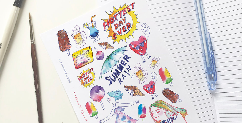 Summer Doodle Stickers -2