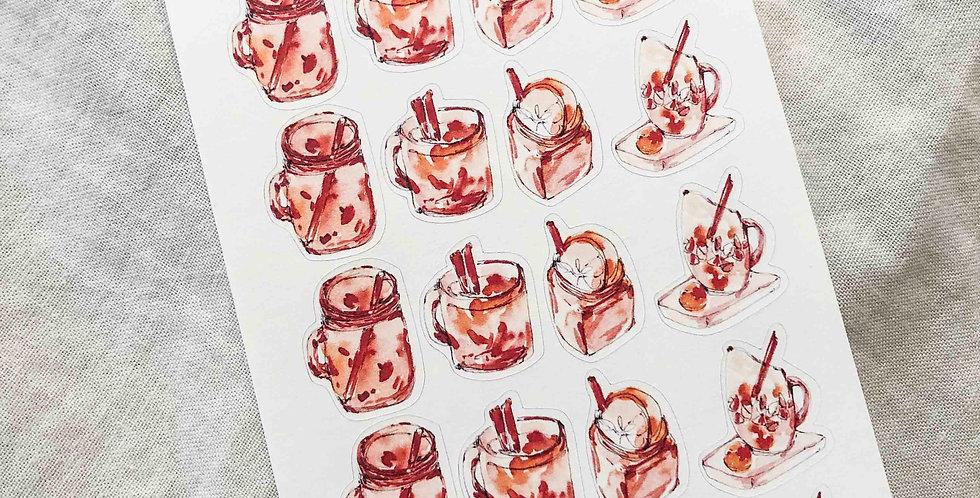 Autumn Cinnamon Tea Stickers