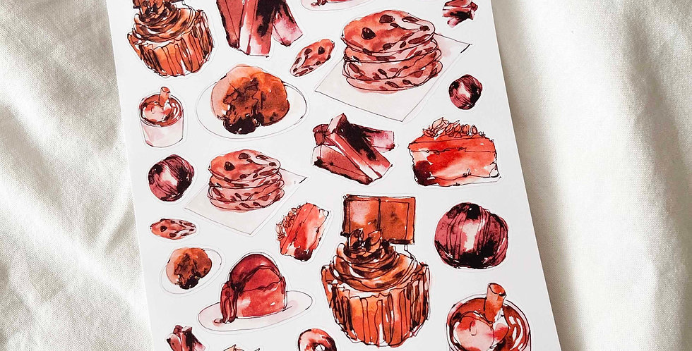 Heavy Chocolate Addict Stickers