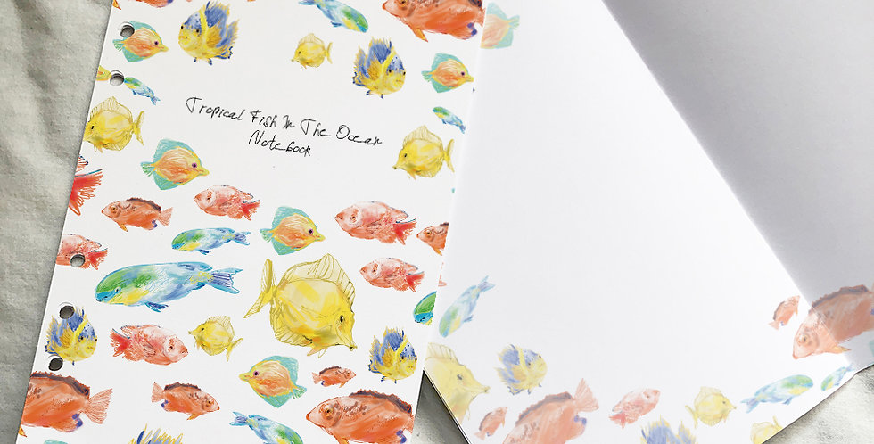 Tropical Fish In The Ocean Notebook
