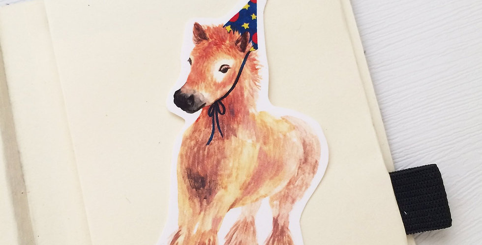 Party With Baby Pony Die cut Sticker