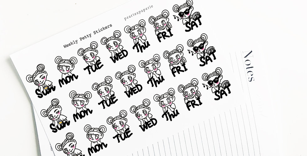 Weekly Petty Stickers