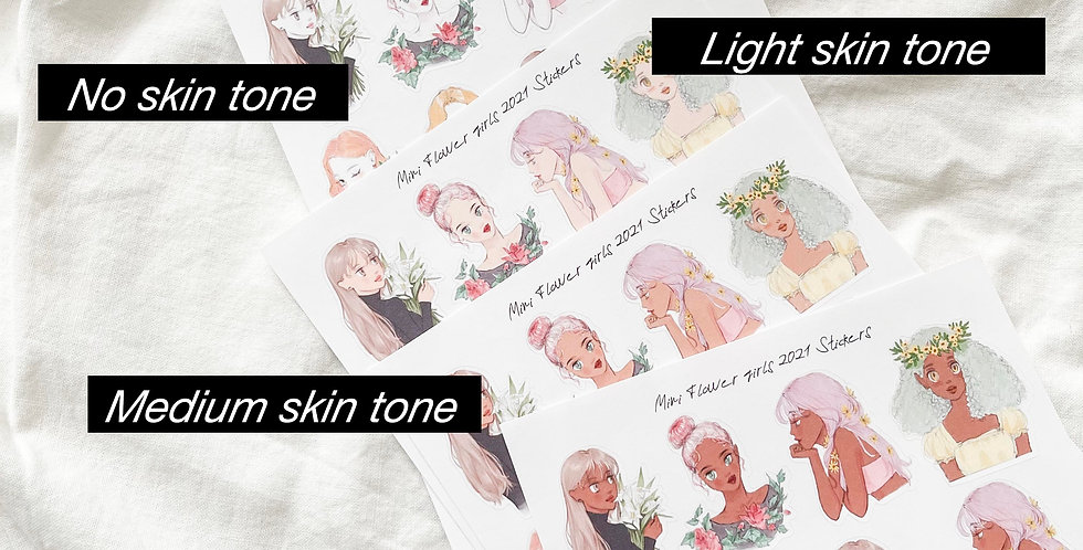 Mini Flower girls 2021 Stickers