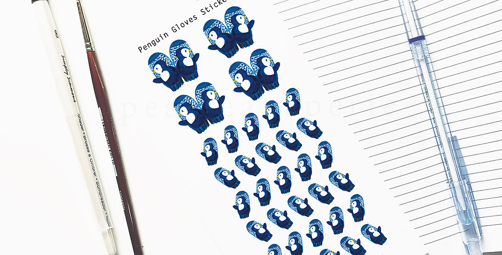Penguin Gloves stickers
