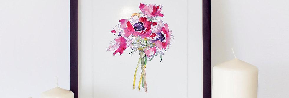 Anemones Flower Poster