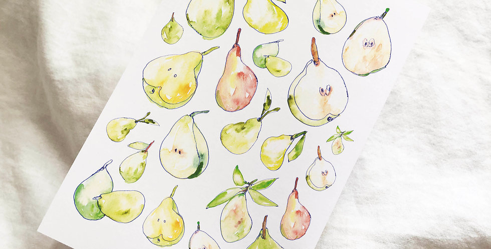 Fresh Pears Stickers