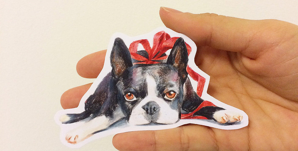 Boston Terrier Die cut Sticker