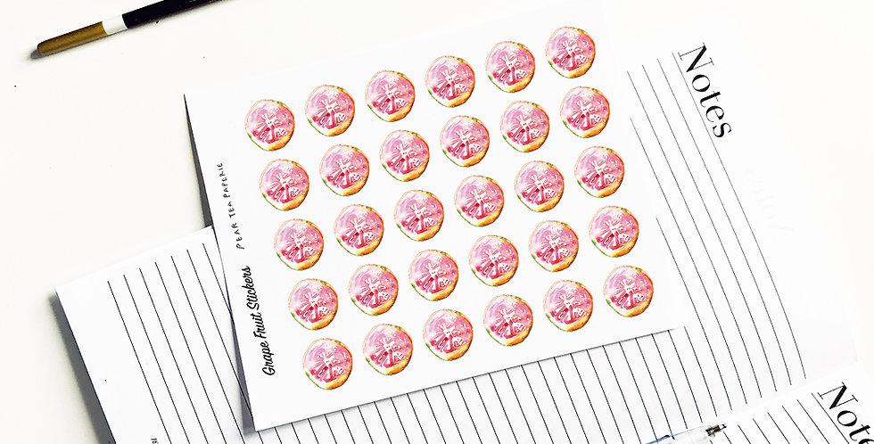 Grape Fruit stickers
