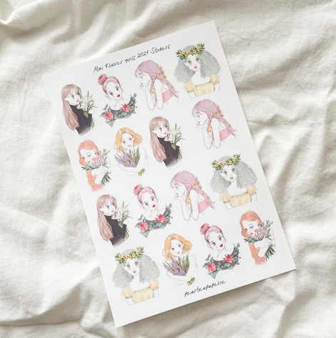 Mini Flower girls 2021 Stickers
