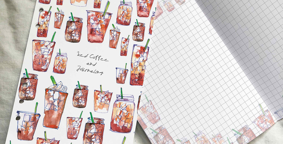 Iced Coffee and Journaling Planner Inserts