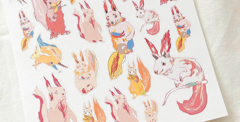 Fantastic Squirrels Stickers