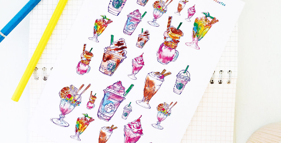 Sweet Frappe Time! Stickers