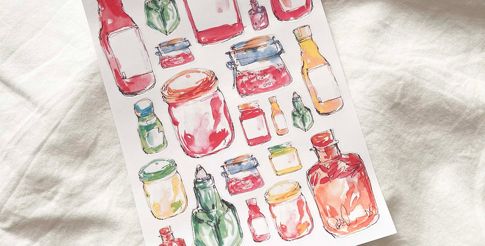 My Special Sauce Jars Stickers