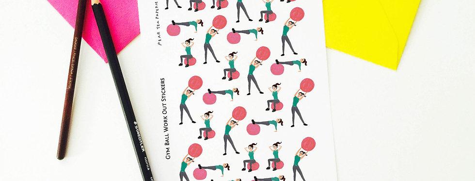 Gym Ball Work out Set