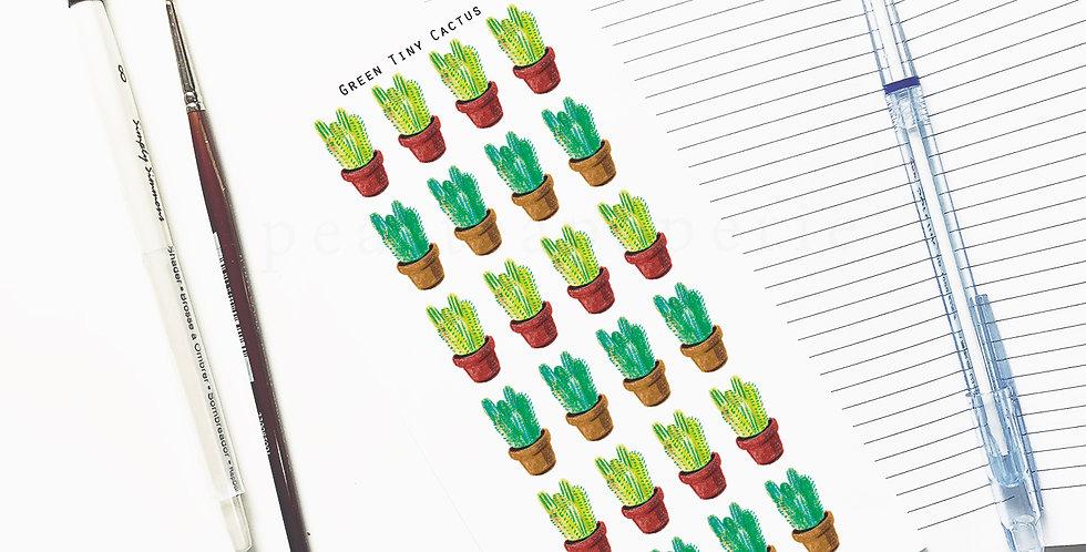Green Tiny cactus stickers