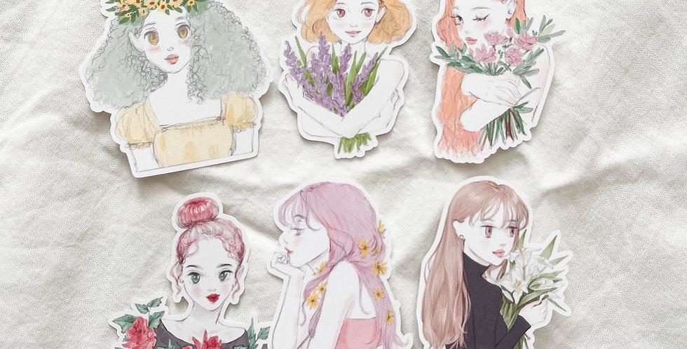 Flower girls 2021 Stickers