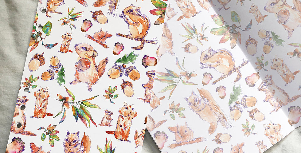 Squirrels and Acorn Branches Planner Inserts
