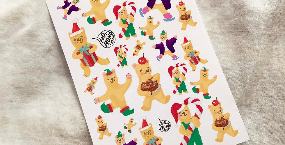 Holiday Bear Stickers