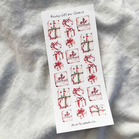 Holiday Gift box Stickers