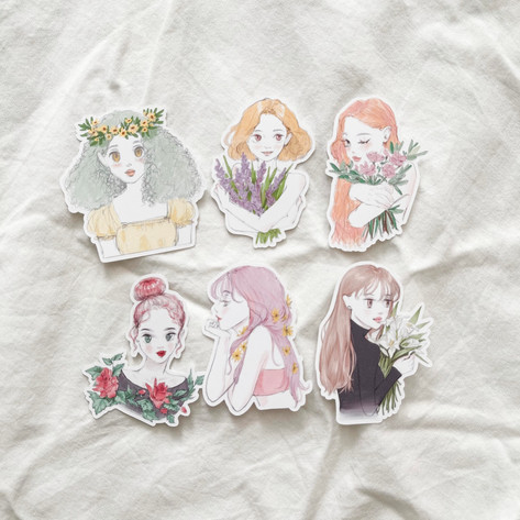 Flower girls 2021 Stickers