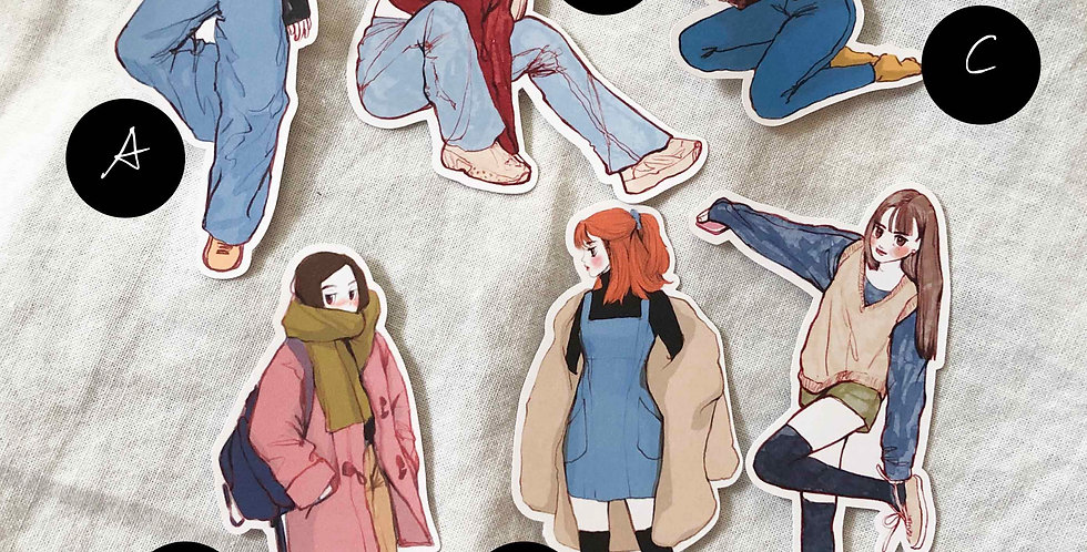 Autumn Dolly Girls 2020 Stickers - Whole Body Ver.