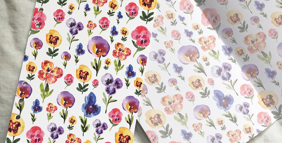 Pansy Flowers Garden Sketch Planner Inserts