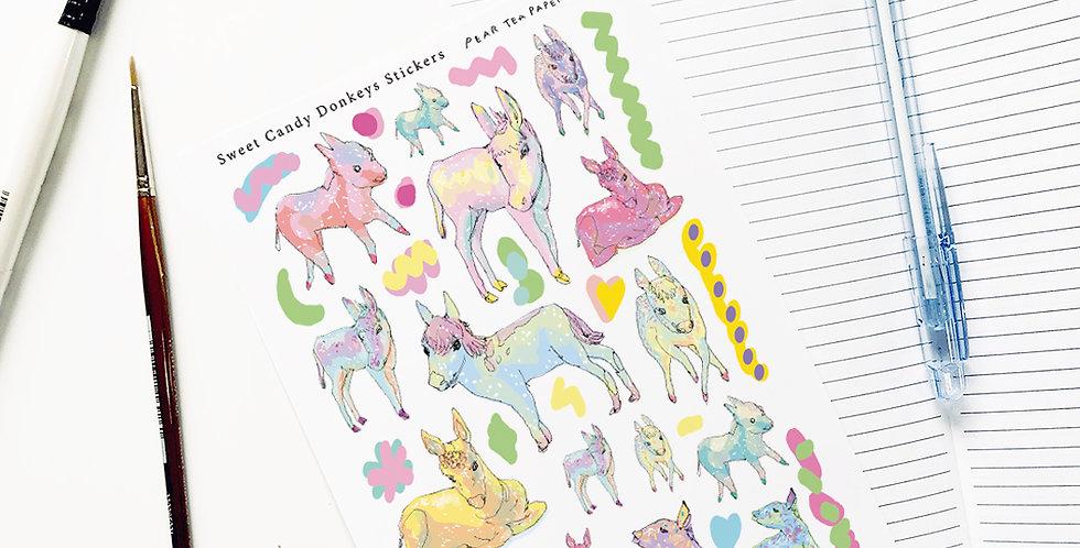 Sweet Candy Donkeys Stickers
