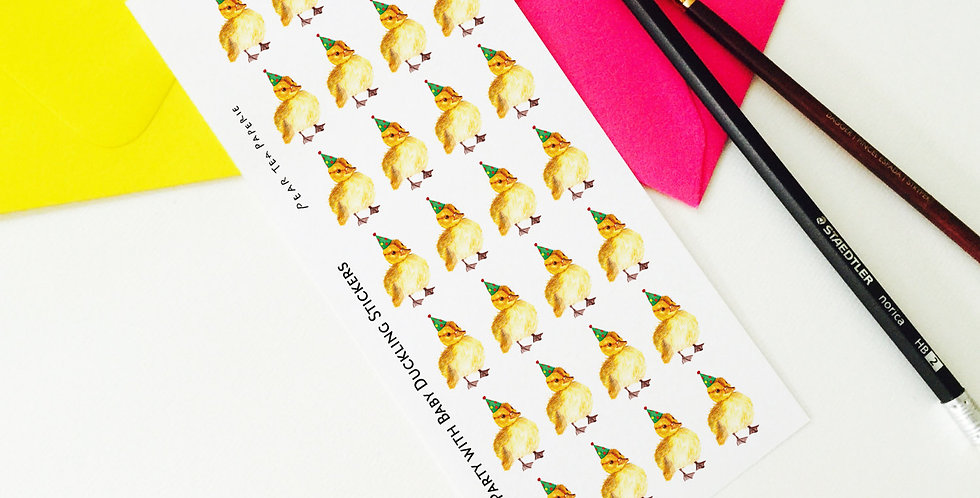 Party with Baby Duckling Stickers