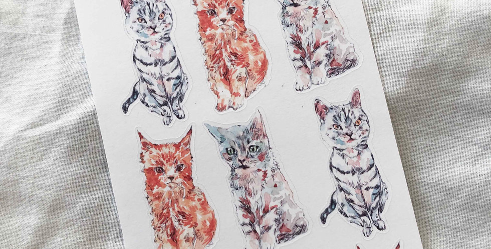 Little Cats Stickers