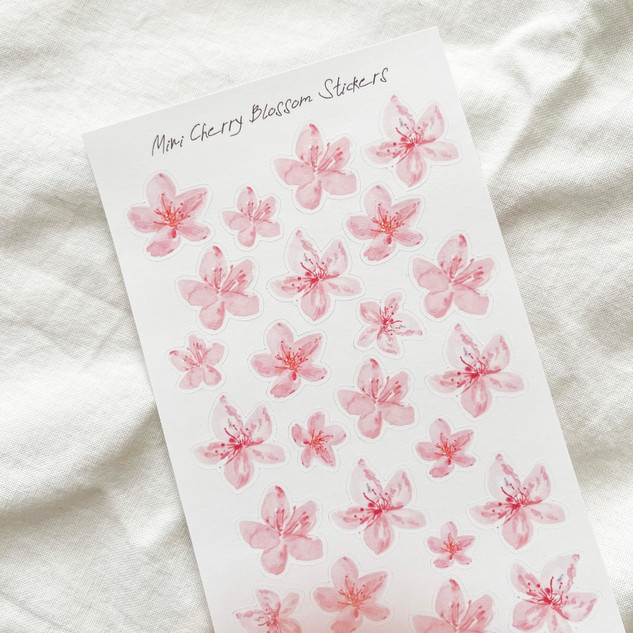 Mini Cherry Blossom Stickers