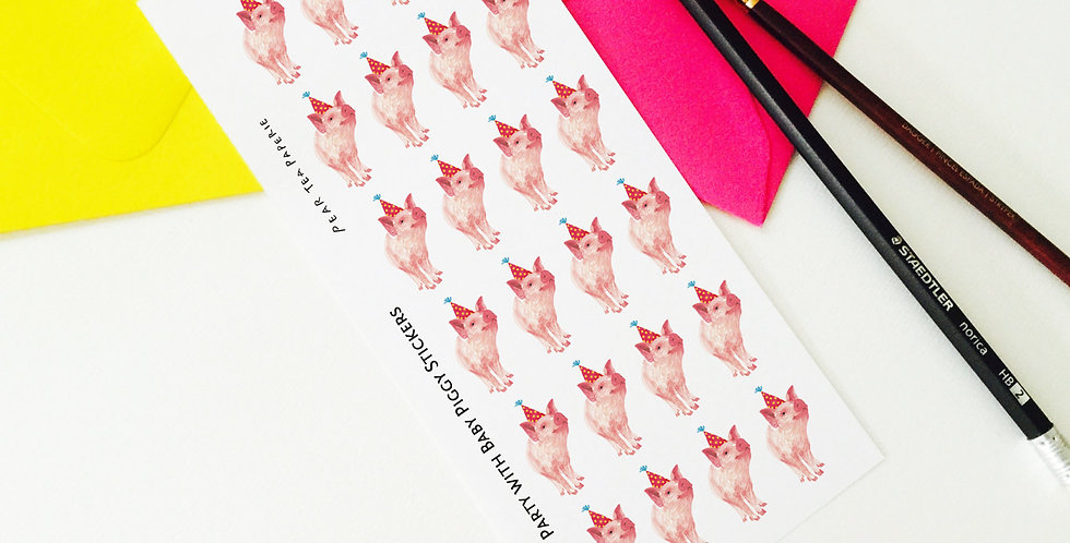 Party with Baby Piggy Stickers