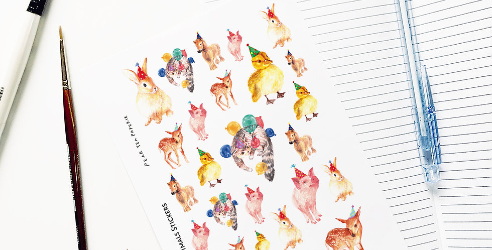 Party with Animals Stickers