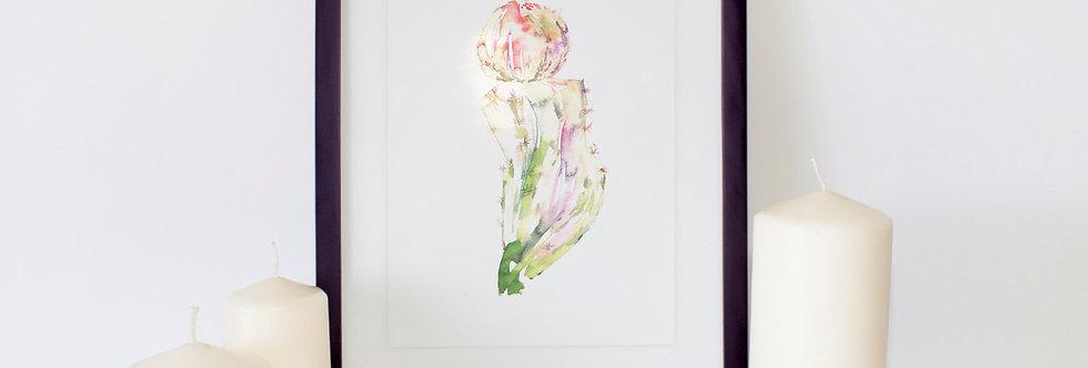 Cactus Watercolor Poster