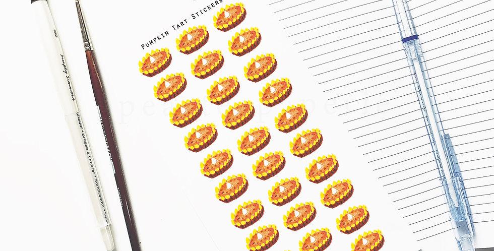Pumpkin tart stickers
