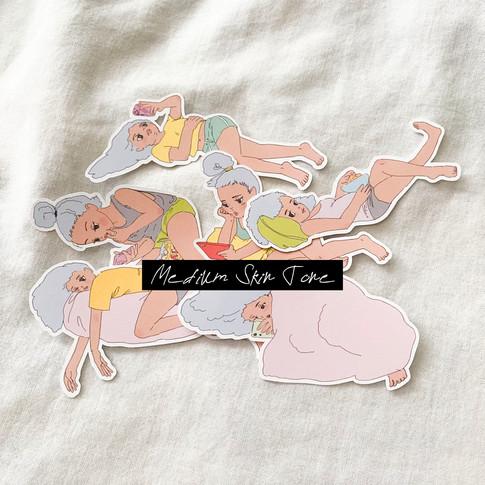 Super Lazy Me Stickers