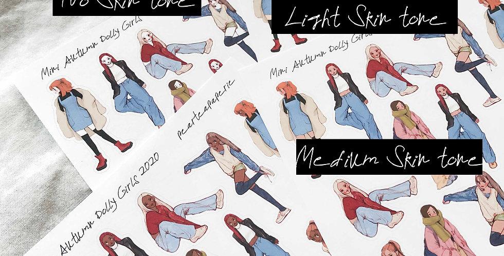 Mini Autumn Dolly Girls 2020 Stickers - Whole Body