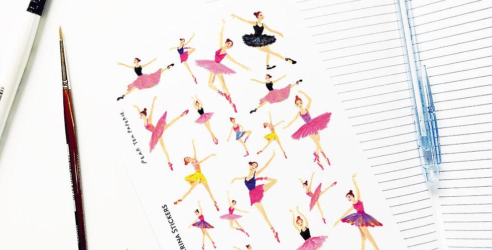 Happy Ballerina Stickers