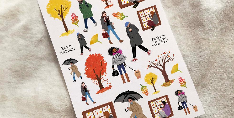 Autumn Street Stickers