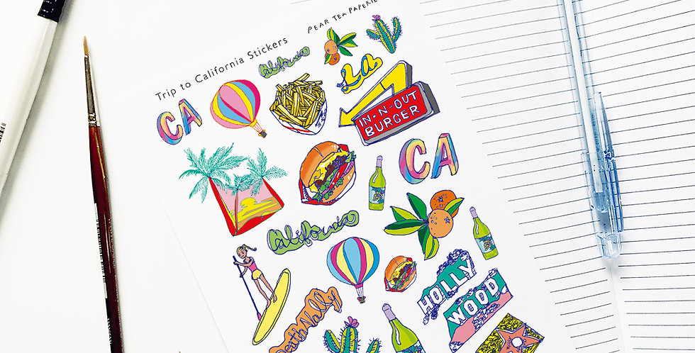 Trip to California Stickers