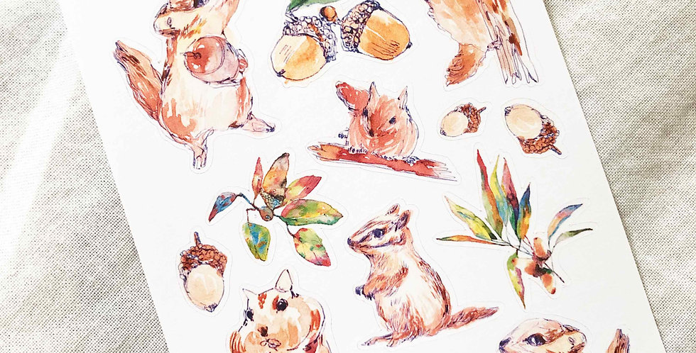 Squirrels in the Backyard Stickers