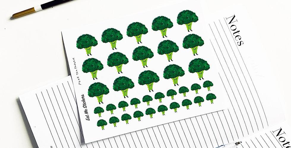 Eat me Broccoli stickers