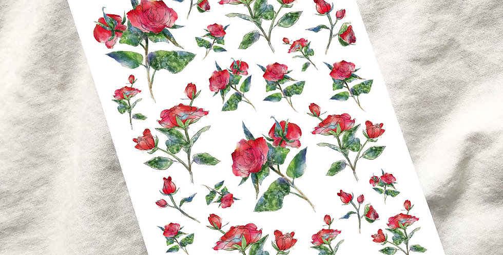 Rose Garden Sketch Stickers