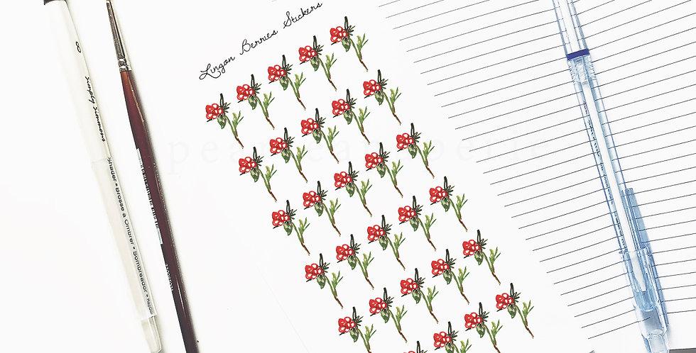 Lingon Berries Stickers