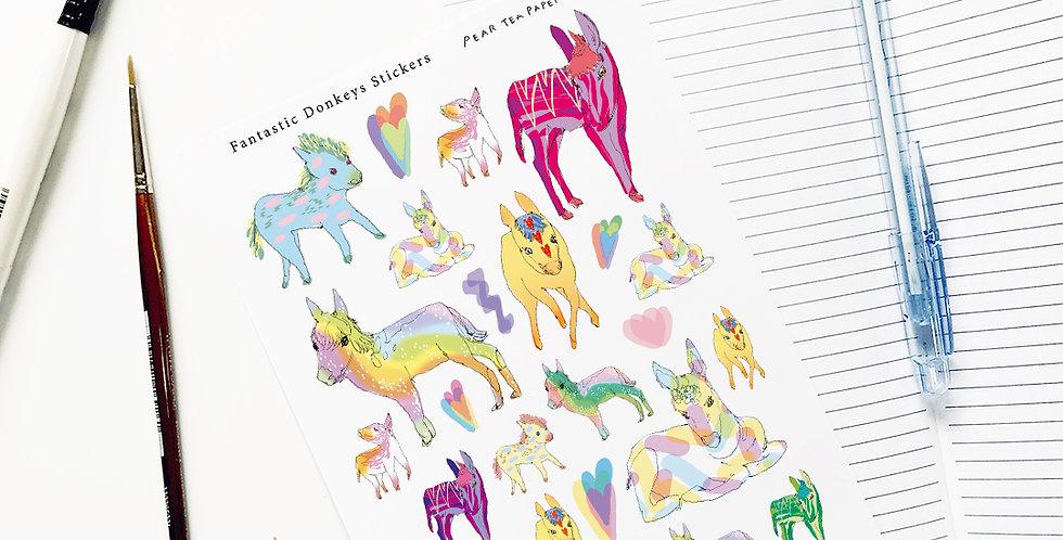 Fantastic Donkeys Stickers