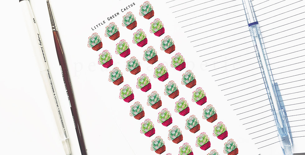 Little Green Cactus stickers
