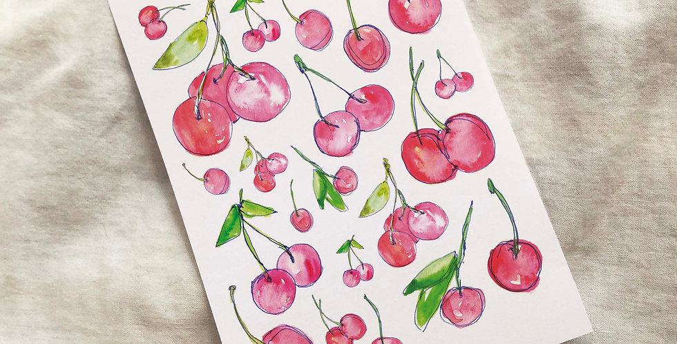 Cherry Addict Stickers