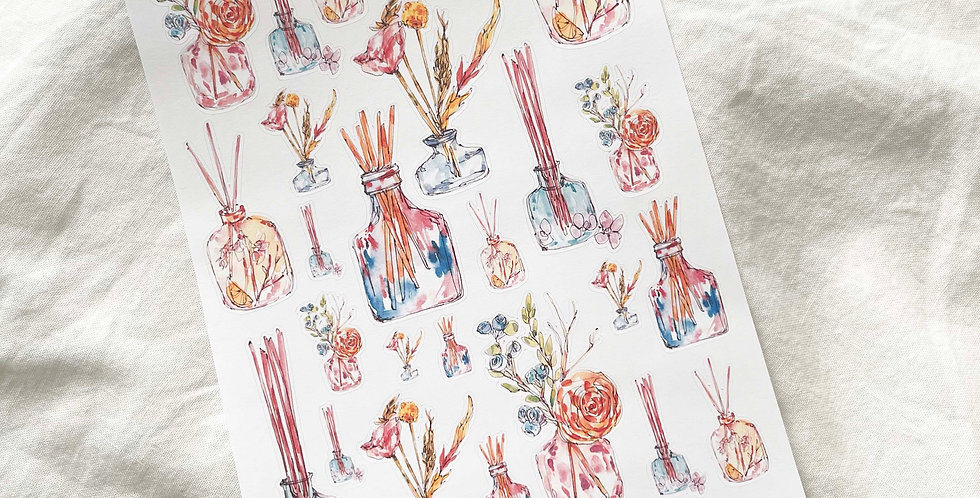 Floral Diffusers Stickers